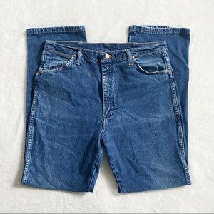 Wrangler vintage 80's classic blue denim jeans 34